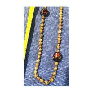 Vintage Long strand of stone beads necklace